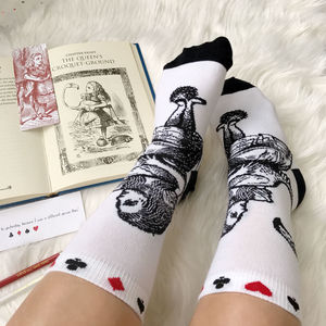 Alice In Wonderland Socks - clothing