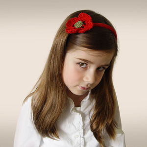 Handmade Organic Poppy Hairband