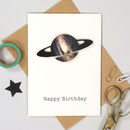 Personalised Handmade Space Birthday Card