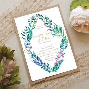 Exotic Diamond Wedding Invitation - new in wedding styling