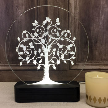 Personalised Family Tree Table Light
