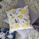 Yellow Chrysanthemum Flower Cushion