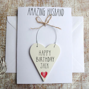 Happy Birthday Husband Personalised Card - birthday cards