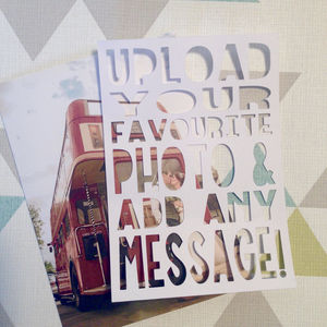 Personalised Papercut Photo Card 'Add Any Message!'