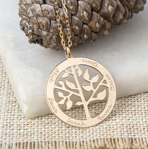 Personalised 'Tree Of Life' Necklace - gifts for grandparents