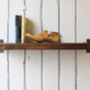 Industrial Wood And Steel Shelf