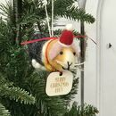 Personalised Guinea Pig Christmas Decoration