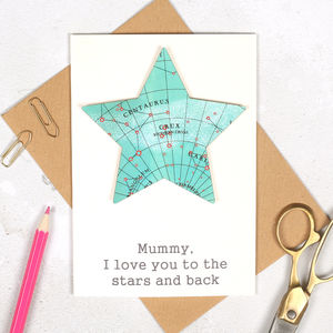 Personalised I Love You To The Stars Birthday Card