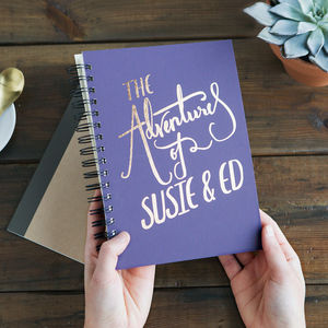 'The Adventures Of' Personalised Memory Book - travel journals & diaries