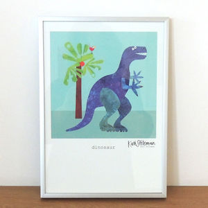 Dinosaur Art Print - children's room