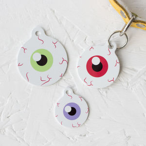 Personalised Eyes Pet Tag Bauble Shaped - cats