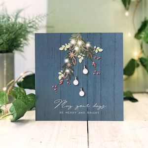 May Your Days Blue Country Christmas Greeting Card