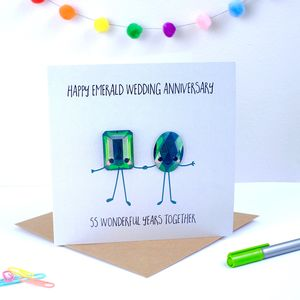 Emerald Wedding Anniversary Greeting Card - shop by category