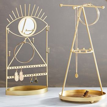 Gold Pyramid Or Tribal Eye Jewellery Stand
