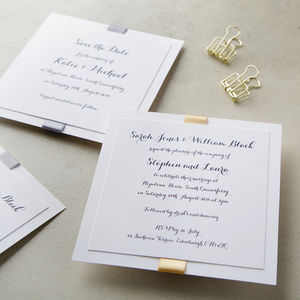 Elegance Metallic Wedding Invitation - invitations