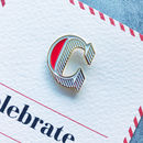 C Is For Celebrate Pin Badge And Card