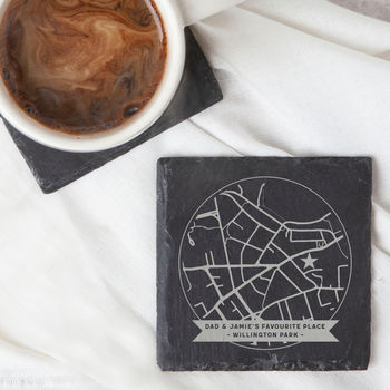 Any Map Gift For Dad Coaster