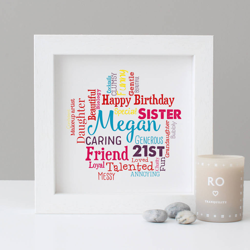 Personalised 21st Birthday Gift For Her  sc 1 st  Notonthehighstreet.com & personalised 21st birthday gift for her by hope and love ...