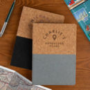 Personalised Vegan Cork Travel Journal For Him