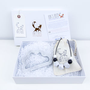 Mumma And Me Marbled Grey Cloud Gift Set - baby care