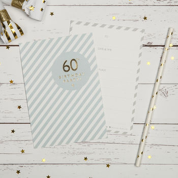 60th Birthday Party Invites