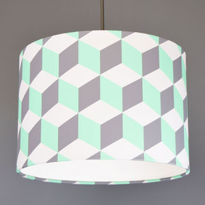 Geometric Cube Lampshade Choice Of Colours - lamp bases & shades