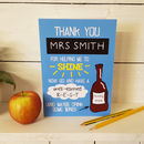 Teacher Thank You Wine Card