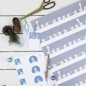 Homely Houses Scandi Wrapping Paper Set