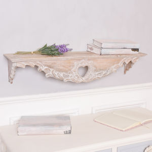 French Living Heart Wooden Shelf