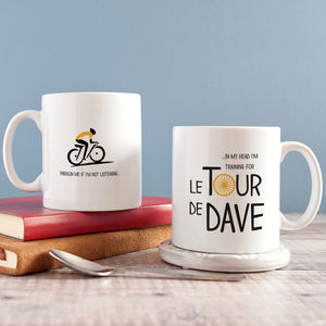 Personalised 'Tour De …' Cycle Mug