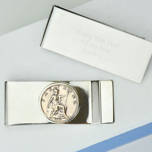 Farthing 90th 1926 Birthday Coin Money Clip - wallets & money clips