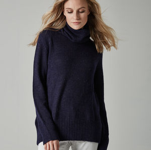 Baby Alpaca Roll Neck Jumper - jumpers & cardigans