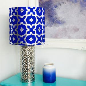 Metallic Moroccan Drum Lampshade - office & study