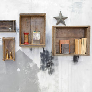 Reclaimed Brick Box - shelves
