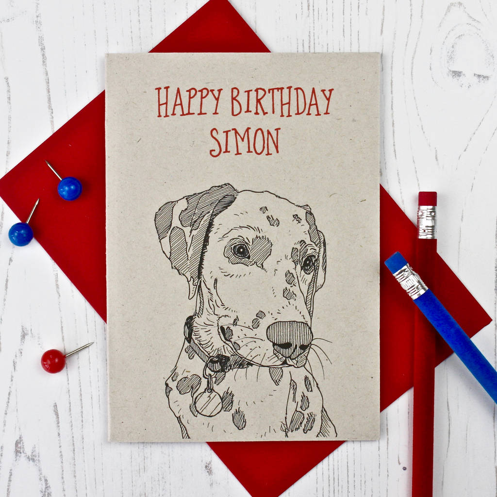 Dalmatian Birthday Card By Adam Regester Design