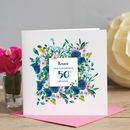 50th Birthday Floral Card