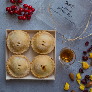 Personalised Classic Mince Pies Gift Box