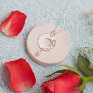 Mother Of The Bride/Groom Silver And Pearl Necklace - necklaces & pendants