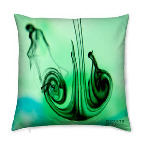 Green Zest Limited Edition Silk Cushion - cushions