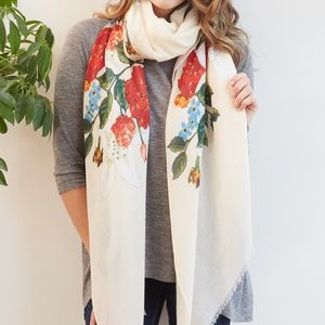 Floral Printed Scarf - winter sale