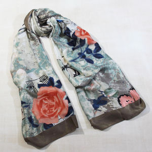 Butterfly And Music Scarf