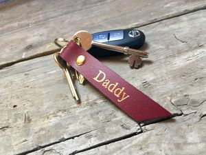 Leather Keyring For Daddy - mens