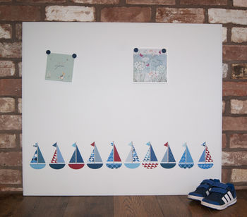 Giant Boat Magnetic Noticeboard