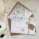 'Whimsical' Concertina Fold Wedding Invitation