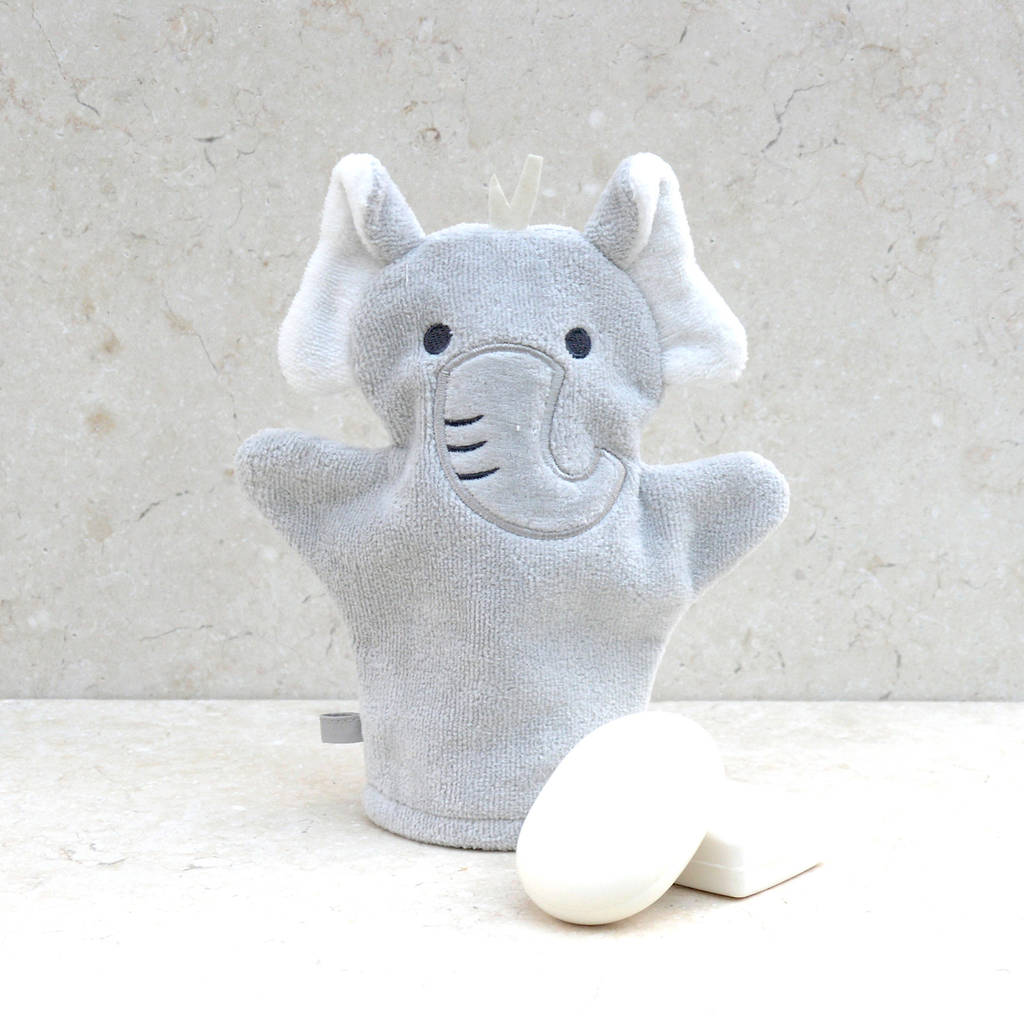 Personalised humphrey elephant baby towel gift set by bathing humphrey elephant bath mitt negle Images