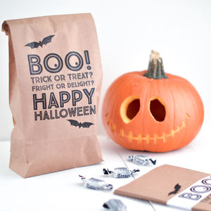 Boo Halloween Trick Or Treat Party Bags