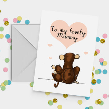 'My Lovely Mummy' Monkey Mother's Day Card