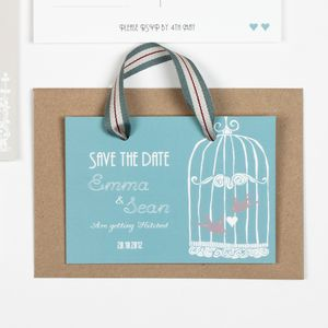 Vintage Birdcage Save The Date