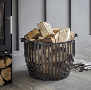 Lodge Fireside Log Basket - log baskets