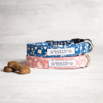 Pink Or Blue Dog Collar For Girl Or Boys